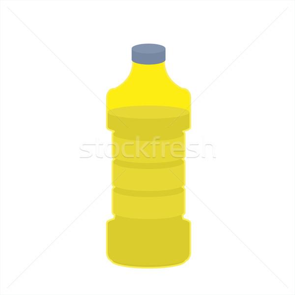 üveg olaj napraforgó fehér étolaj étel Stock fotó © popaukropa