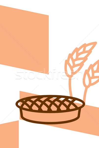 Padaria modelo projeto cartaz torta trigo Foto stock © popaukropa