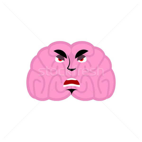 Cervello arrabbiato emozione umani male isolato Foto d'archivio © popaukropa