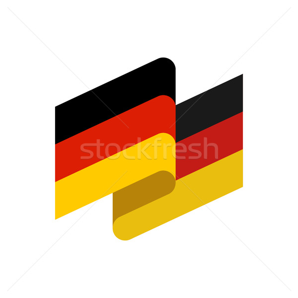 Germany flag isolated. German ribbon banner. state symbol Stock photo © popaukropa