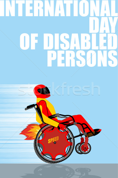 International Day of Persons with Disabilities. Man on  wheelcha Stock photo © popaukropa