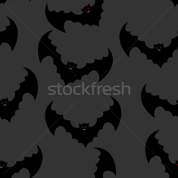 Bat seamless pattern. Flying vampire background. Monster with wi Stock photo © popaukropa