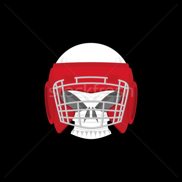 Boksen logo sport embleem schedel bokshandschoenen Stockfoto © popaukropa