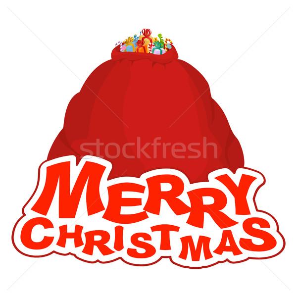 Noel kırmızı büyük büyük Stok fotoğraf © popaukropa