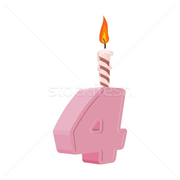 年 歳の誕生日 番号 キャンドル 休日 ストックフォト © popaukropa