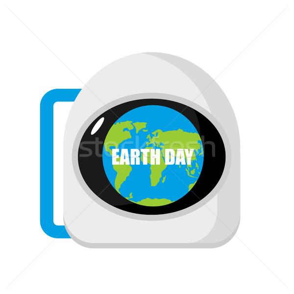 Helm astronaut planeet kosmonaut cap Stockfoto © popaukropa