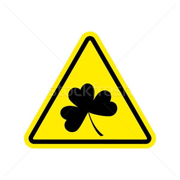 Figyelmeztetés lóhere citromsárga háromszög jelzőtábla figyelem Stock fotó © popaukropa