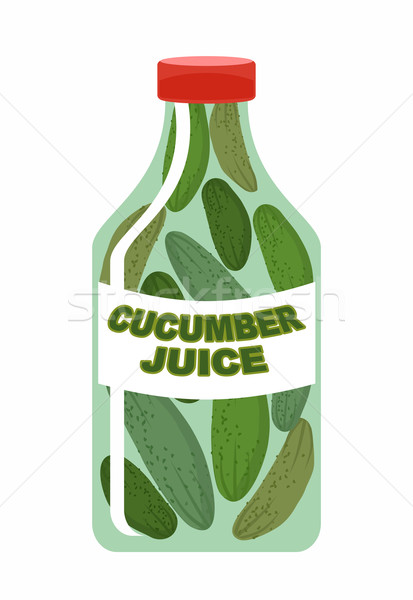 Cetriolo succo verdure fresche cetrioli trasparente bottiglia Foto d'archivio © popaukropa
