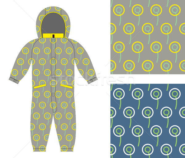 Stylish childrens clothing. Fashionable overalls for boy or girl Stock photo © popaukropa