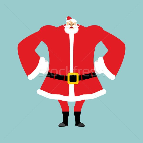 сердиться агрессивный Дед Мороз Рождества деда Сток-фото © popaukropa