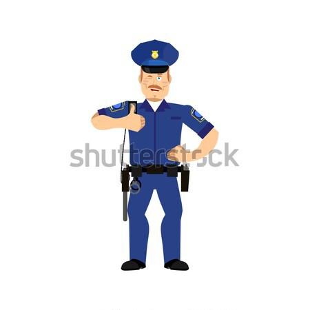 Komisarz policjant wesoły emocji szczęśliwy Zdjęcia stock © popaukropa