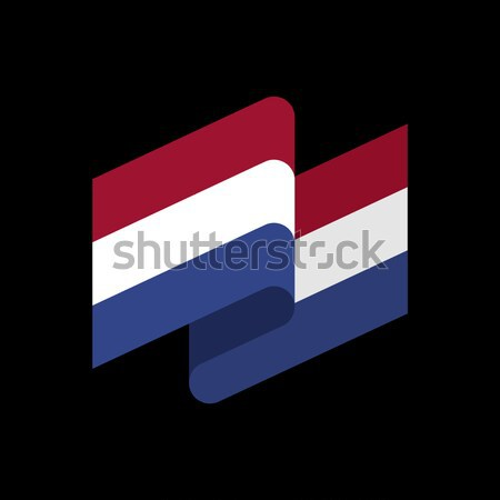 Vlag lint geïsoleerd tape banner teken Stockfoto © popaukropa