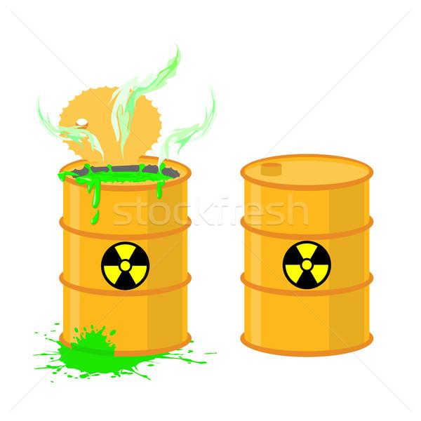Vat zuur Open drums gevaarlijk groene Stockfoto © popaukropa