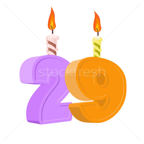 29 years birthday. Number with festive candle for holiday cake.  Stock photo © popaukropa