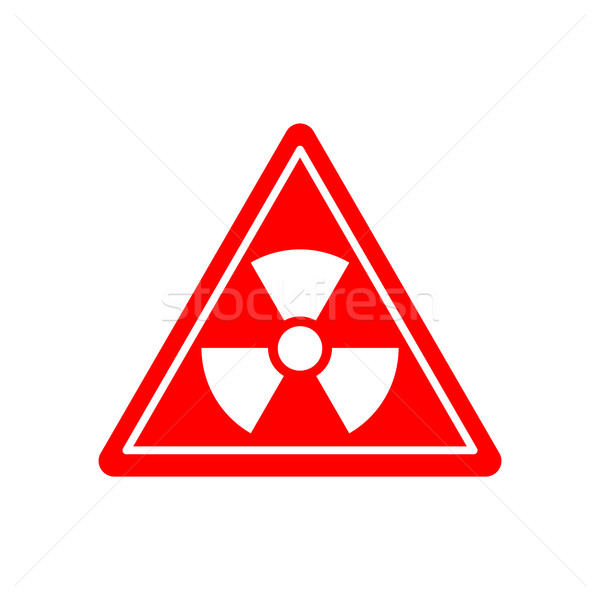 Radiation Danger sign. Caution chemical hazards. Warning sign of Stock photo © popaukropa