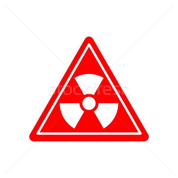 Sugárzás veszély tábla vigyázat vegyi figyelmeztető jel radioaktív Stock fotó © popaukropa
