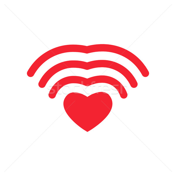 Wifi amour coeur amoureux romaine Photo stock © popaukropa