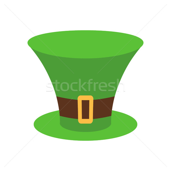 Manó kalap zöld izolált ír retro Stock fotó © popaukropa