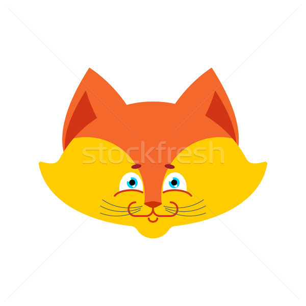 fox face Isolated. Cute wild animal on white background Stock photo © popaukropa