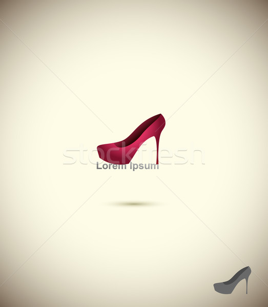 Logo chaussures magasin mode ensemble boutique Photo stock © popaukropa