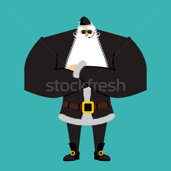 Santa Claus bodyguards. Christmas guards. Protecting new year. D Stock photo © popaukropa