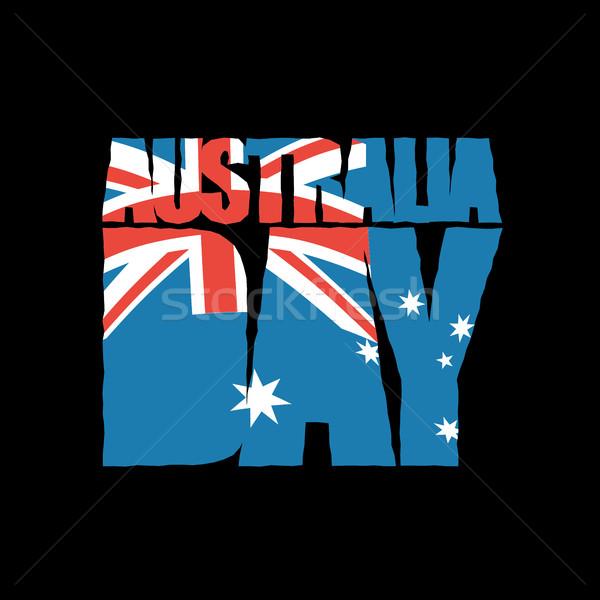 オーストラリア 日 愛国的な 休日 オーストラリア人 フラグ ストックフォト © popaukropa