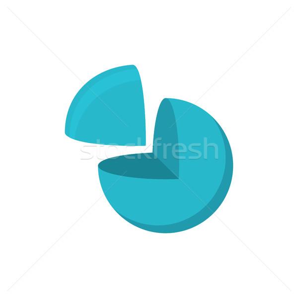 Sfera taglio logo geometrica abstract bianco Foto d'archivio © popaukropa