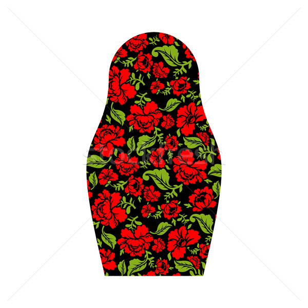 Matryoshka isolated. Russian national doll. Folk traditional pai Stock photo © popaukropa