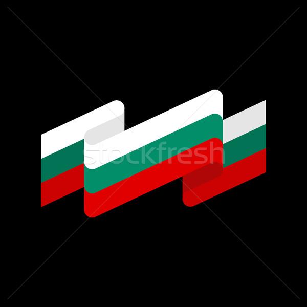 флаг лента изолированный лента баннер символ Сток-фото © popaukropa