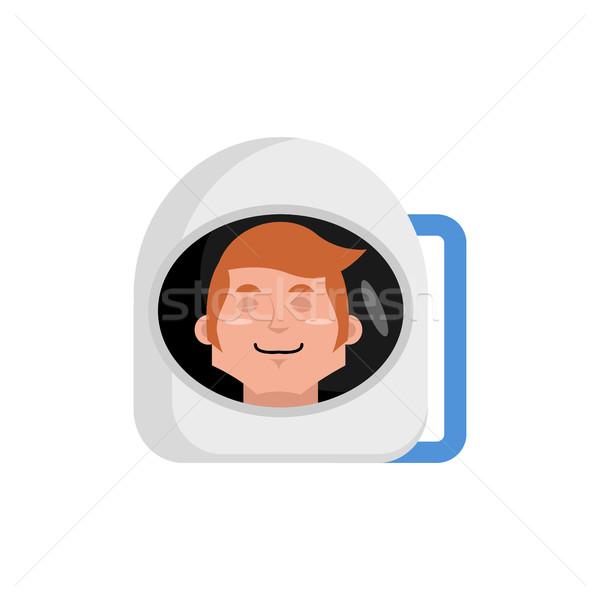 Astronaut slapen kosmonaut emotie geïsoleerd Stockfoto © popaukropa