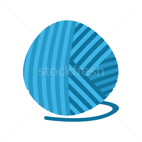blue ball of yarn Threads. bundle of wool for knitting isolated Stock photo © popaukropa