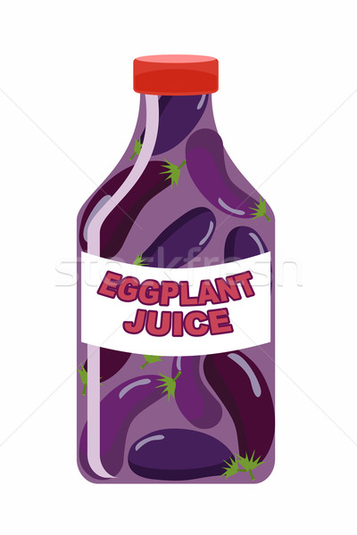 Eggplant juice. Juice from fresh vegetables. Eggplant in a trans Stock photo © popaukropa