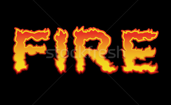 Fire text.Flame typography. Burning letters. fiery lettering Stock photo © popaukropa