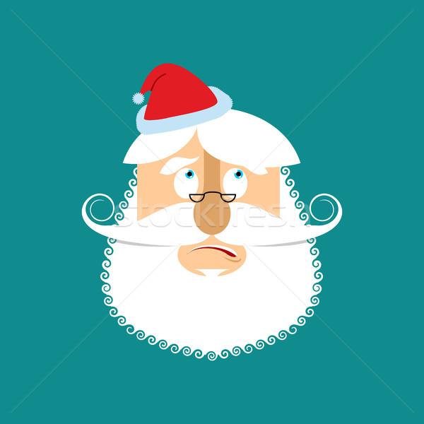 Santa surprised  Emoj. Christmas amazementi emotion avatars. San Stock photo © popaukropa