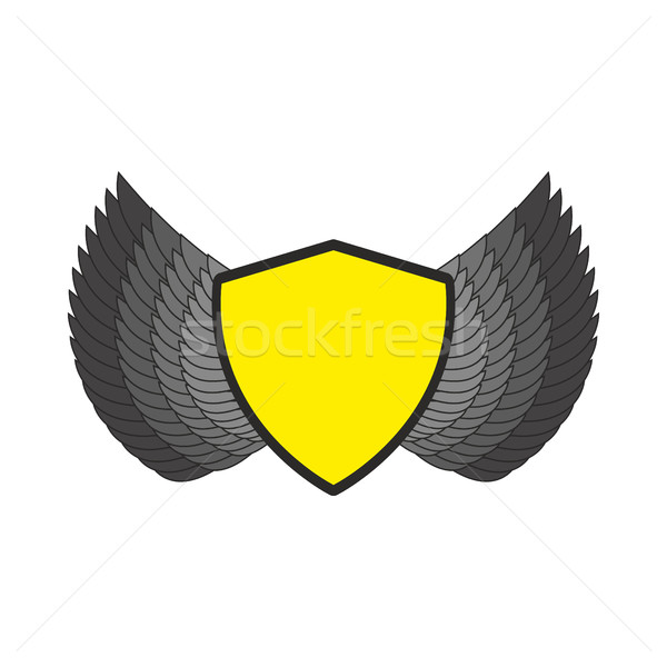 Shield and wings logo. Heraldic emblem. Antique coat template Stock photo © popaukropa