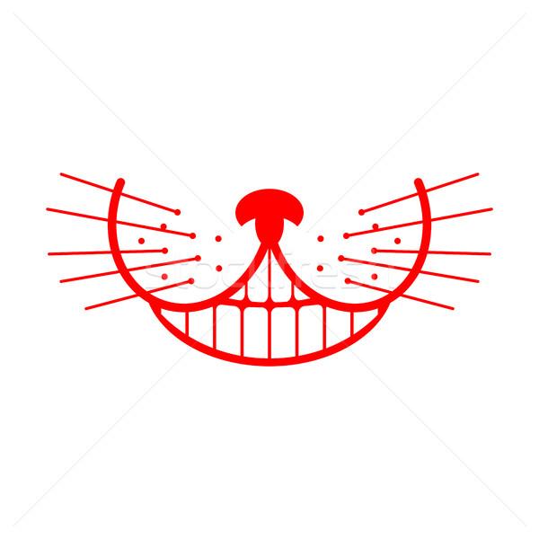 Cheshire cat smile. Animal Alice in Wonderland. Unusual pet Stock photo © popaukropa