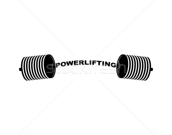 Powerlifting barbell. Sports accessory. Lifting weights. Fitness Stock photo © popaukropa