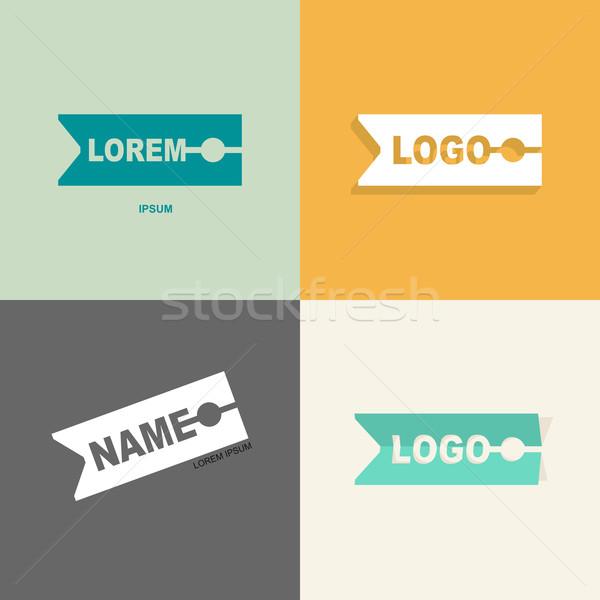 Prendedor de roupa roupa vetor design de logotipo padrão de costura Foto stock © popaukropa
