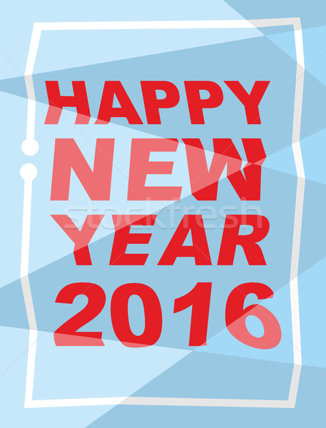 Happy new year 2016. Mauled background, broken letters. Vector i Stock photo © popaukropa