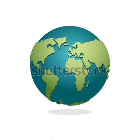 Earth Planet. Sign of globe. Space Earth on white background. Wo Stock photo © popaukropa
