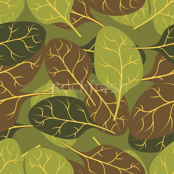 Katonaság textúra levelek spenót álca hadsereg Stock fotó © popaukropa