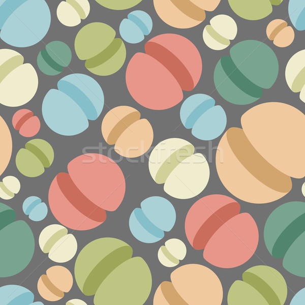 Sphere seamless pattern. Abstract geometric vector background. S Stock photo © popaukropa