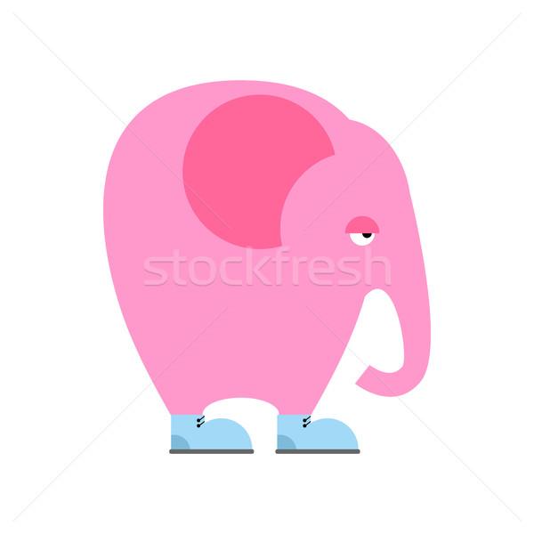 ビッグ ピンク 象 靴 悲しい 動物 ストックフォト © popaukropa