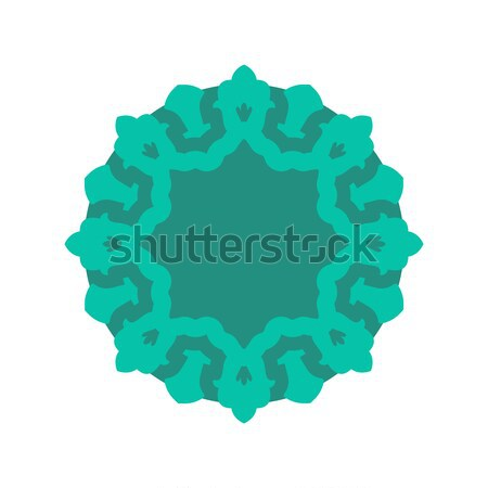 Halal Islamic template symbol. East ornament for emblem. Muslim  Stock photo © popaukropa