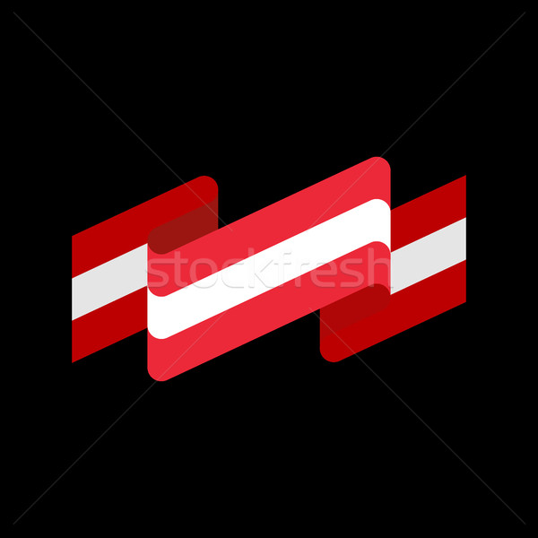 Austria flag ribbon isolated. Austrian banner tape. State patrio Stock photo © popaukropa