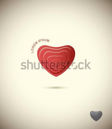 Set logos of plastic forms. Heart icon logo. Vector logo design  Stock photo © popaukropa