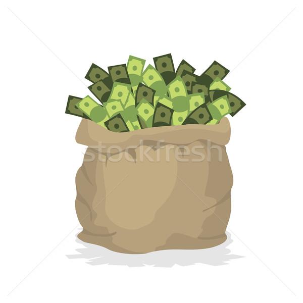Saco dinheiro grande pano de saco saco numerário Foto stock © popaukropa
