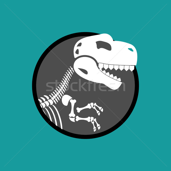 Dinosaur skeleton isolated. Remains of Tyrannosaurus. Skull T-Re Stock photo © popaukropa