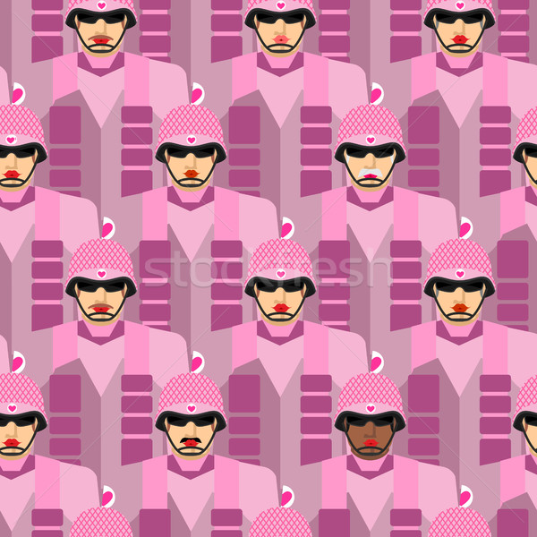Rosa exército vetor militar soldados Foto stock © popaukropa