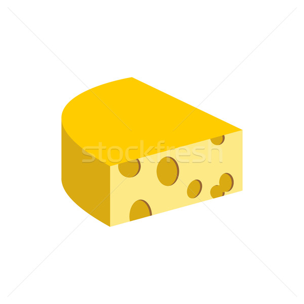 Cheese on a white background. Piece of dairy product. Vector ill Stock photo © popaukropa